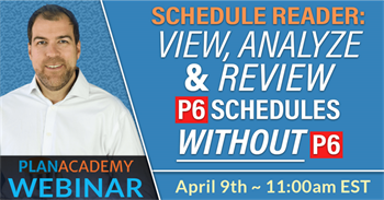 View, Analyze & Review P6 Schedules Without P6