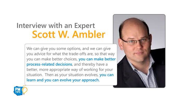Interview With an Expert Scott W. Ambler