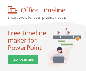 Office Timeline make impressive PowerPoint timelines with just a few clicks.