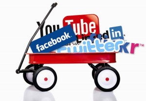 social media wagon1 300x208 How to Use Social Media to Collaborate